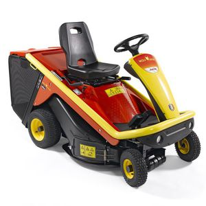ride-on lawn mower / gasoline / collecting
