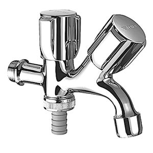 drinking fountain mixer tap / wall-mounted / chrome-plated brass / indoor