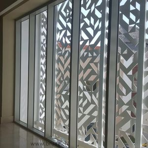 composite solar shading / HPL / for facade / window