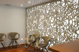 wall acoustic panel / for partition walls / for interior / MDF