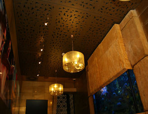 wall-mounted acoustic panel / polystyrene / decorative / fire-rated