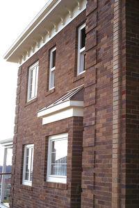 hollow brick / for facade / for interior walls / brown