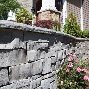 concrete wall cladding / exterior / 3D / decorative