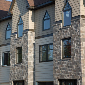 high-performance concrete cladding brick / outdoor / stone look / decorative