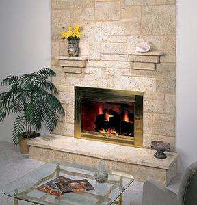 concrete wall cladding / interior / textured / stone look