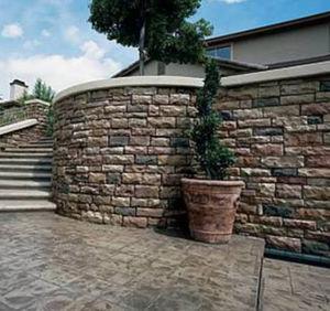 limestone wall cladding / exterior / 3D / stone look