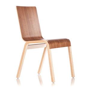 contemporary chair / connected / beech / oak