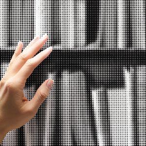 retro wallpaper / vinyl / bookshelf / 3D effect