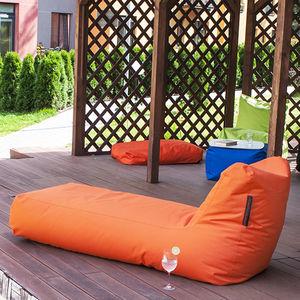 contemporary sun lounger / fabric / polystyrene / garden
