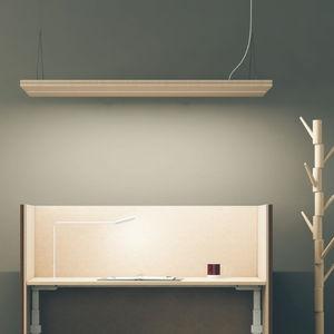 hanging light fixture / LED / rectangular / aluminum