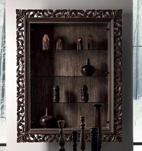 classic display case / wall-mounted / oak / poplar