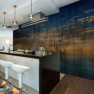contemporary wallpaper / vinyl / polyester / panoramic