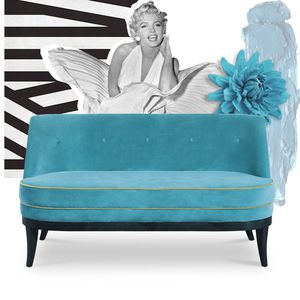 traditional upholstered bench / velvet / beech / lacquered wood