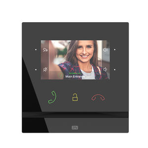 hands-free video door intercom / IP / for access control / with color screen