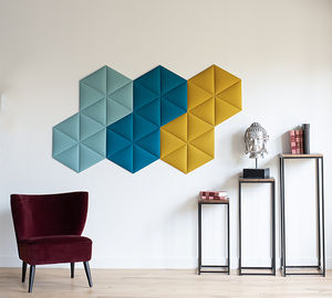 interior acoustic panel / wall-mounted / Velcro® / decorative