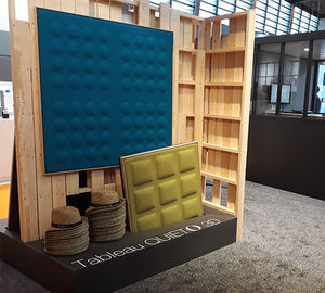 interior acoustic panel / wall-mounted / fabric / aluminum