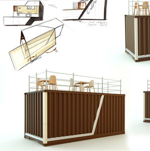 commercial container construction / for restaurants