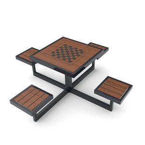 traditional chess table / outdoor / for public spaces