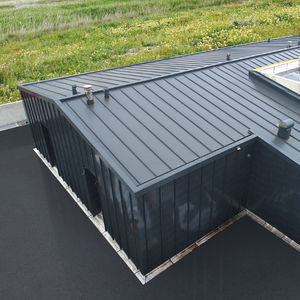 sheet steel roofing / steel / standing seam / colored