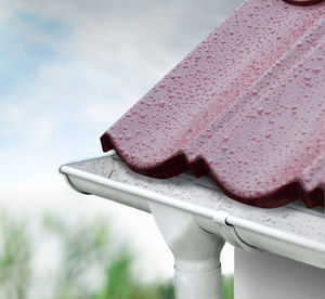 ribbed metal sheet / steel / for roof gutters