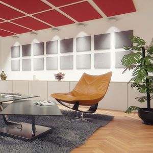interior sound-absorbing panel / for false ceilings / wall-mounted / for ceilings