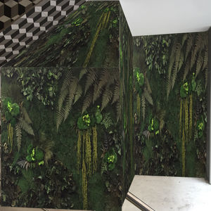 preserved green wall / with live plants / modular-panel / custom