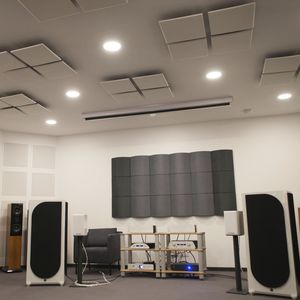 interior acoustic panel / for ceilings / for false ceilings / wall-mounted