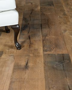 solid parquet floor / nailed / oak / aged