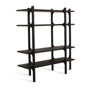 Scandinavian design shelf / oak / walnut / solid wood