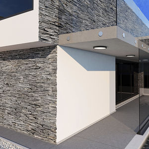 concrete wall cladding / interior / exterior / natural finish