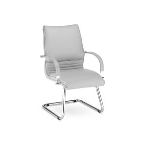 contemporary conference chair / sled base / cantilever / with armrests