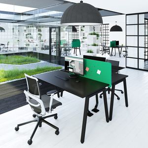 workstation desk / melamine / contemporary / commercial