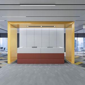 modular reception desk / fabric