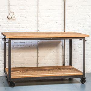 commercial trolley / wooden / steel