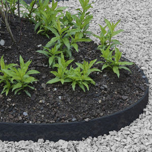 garden edging / recycled plastic / curved / straight