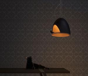 pendant lamp / contemporary / oak / plaster