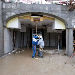 circular formwork / single-sided / expanded polystyrene / for arches