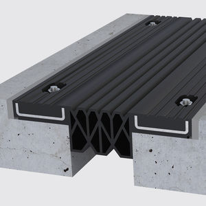 rubber expansion joint / steel / for bridge construction / for parking lots