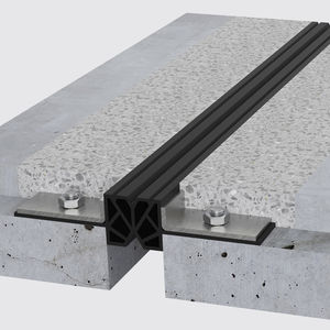 TPE expansion joint / steel / for flooring / for parking lots