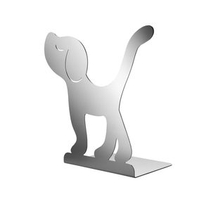 polished stainless steel bookend