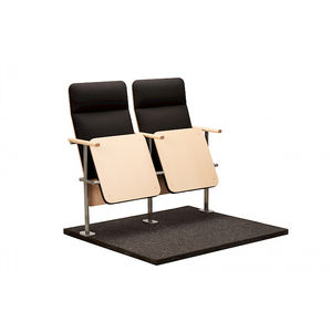 contemporary auditorium seat / folding / upholstered / tablet