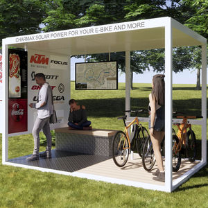 cycle shelter with solar panel