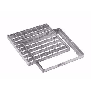 galvanized steel drain grate / electro-welded steel / for public spaces