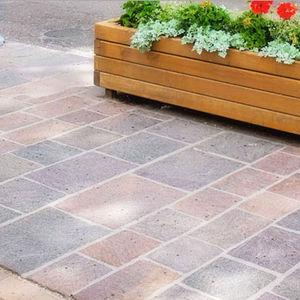 outdoor tile / floor / porphyry / rectangular