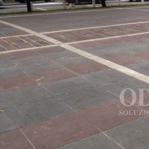 marble paving slab / pedestrian / for public spaces