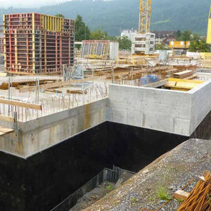protection waterproofing membrane / double-layer / high-density polyethylene (HDPE)