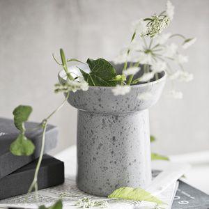 contemporary vase / stone