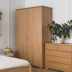 contemporary wardrobe / oak / walnut / wood veneer