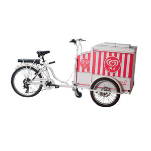 ice cream trolley / commercial / refrigerated / metal