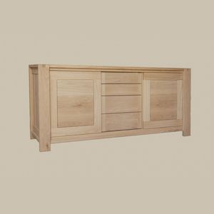 contemporary sideboard / oak / solid wood / oiled wood